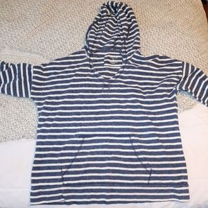 Sonoma Blue & White Striped Long-sleeve Sweater